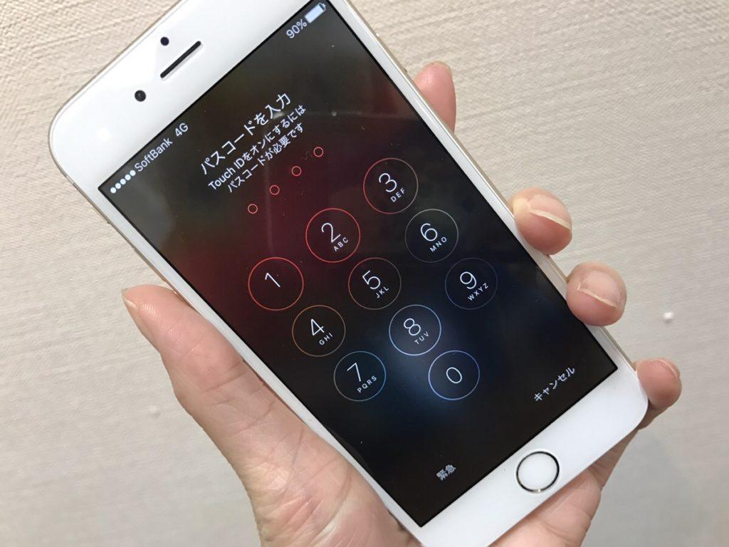 iPhone6sフロントパネル修理後.26/11/15