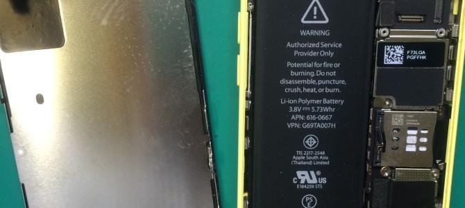 アイフォン修理報告【iPhone5cのパネル交換修理】