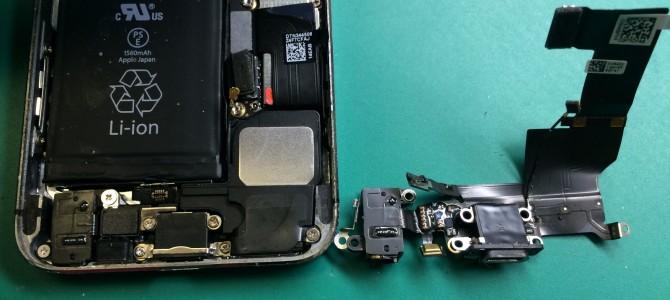 アイフォン修理報告【iPhone5sのパネルとLightningコネクタ】