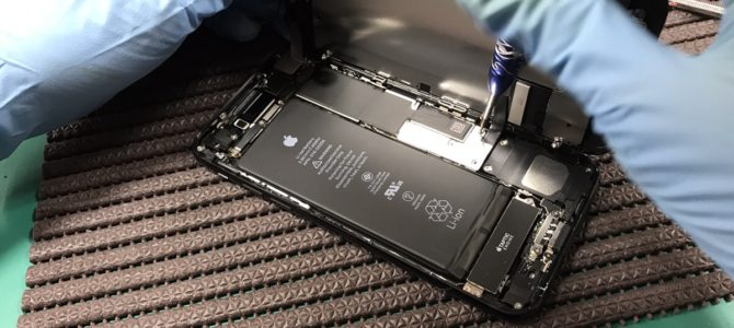 iPhone7フロントパネル交換 「コンクリートに落とした・・・」