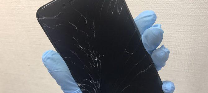 iPhone6plusフロントパネル交換修理 苫小牧市より『割れたままにしていて・・・』