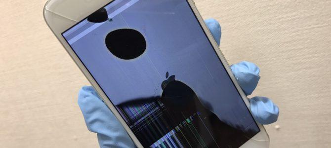 iPhone5フロントパネル交換 恵庭市より「液晶が黒くなった・・・」