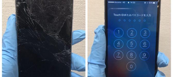 iPhone6フロントパネル交換 札幌市西区より「割れたまま使っていたら・・・」