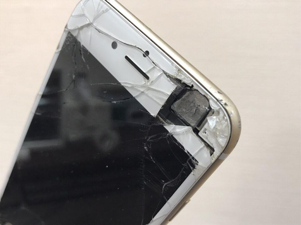割れたiPhone6買取商品.0119